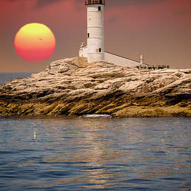 Claudia Mottram - Isles of Shoals Lighthouse at sunset