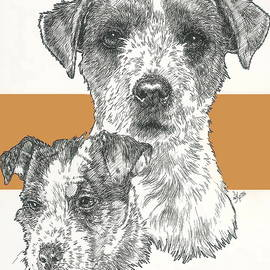 Barbara Keith - Jack Russell wire coat Father and Son