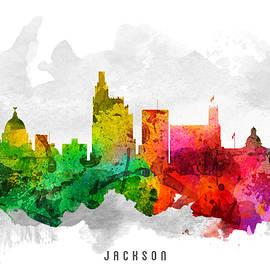 Aged Pixel - Jackson Mississippi Cityscape 12