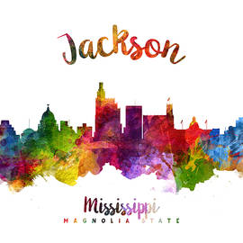 Jackson Mississippi Skyline 23 - Aged Pixel