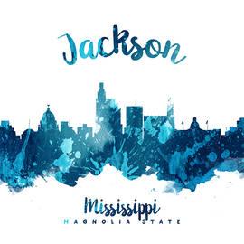 Jackson Mississippi Skyline 27 - Aged Pixel