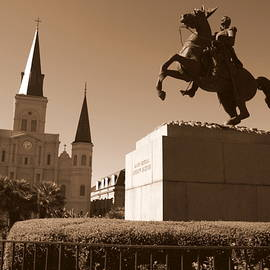 Carol Groenen - Jackson Square in New Orleans - Sepia