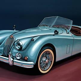 Paul Meijering - Jaguar XK140 1954 Painting