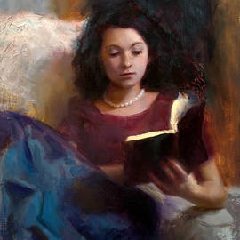 Karen Whitworth - Jaidyn Reading a Book 1 - Portrait of Young Woman