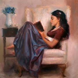 Karen Whitworth - Jaidyn Reading a Book 2 - Portrait of Woman