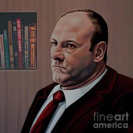 Paul Meijering - James Gandolfini Painting