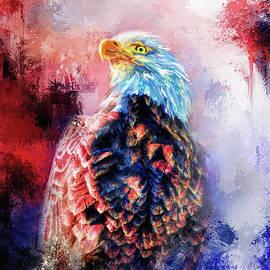 Jai Johnson - Jazzy Bald Eagle Colorful Bird Art by Jai Johnson