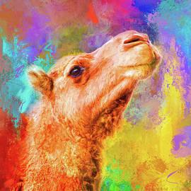 Jai Johnson - Jazzy Camel Colorful Animal Art by Jai Johnson