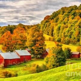 Jenne Farm Vermont Painting - Edward Fielding