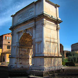 Al Bourassa - Jewish Arch - Arch Of Titus - Rome - Italy