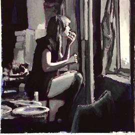 Jill applying Lipstick - H James Hoff