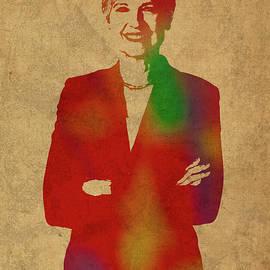 Jill Stein Green Party Political Figure Watercolor Portrait - Design Turnpike