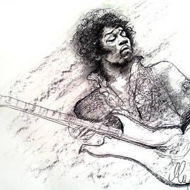 Maja Sokolowska - Jimi Hendrix drawing