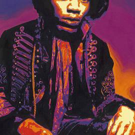 Louise Exton - Jimi Hendrix painting