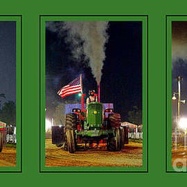 John Deere Tractor Pull Poster - Olivier Le Queinec