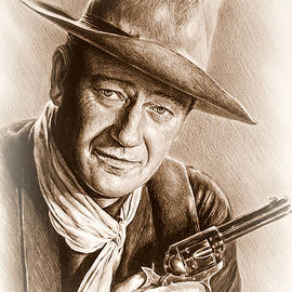 Andrew Read - John Wayne sepia frosted