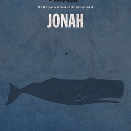 Jonah Books Of The Bible Series Old Testament Minimal Poster Art Number 32 - Design Turnpike