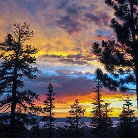 Bruce Friedman - July 14 2014 Lake Tahoe Sunset 2 - Nevada