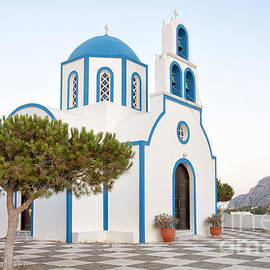 Antony McAulay - Kamari Church On Santorini
