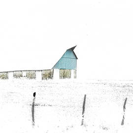 Anna Louise - Kansas Blue Barn in Frozen Fog