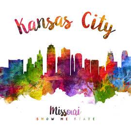 Kansas City Missouri Skyline 23 - Aged Pixel