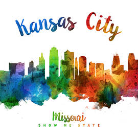 Kansas City Missouri Skyline 25 - Aged Pixel