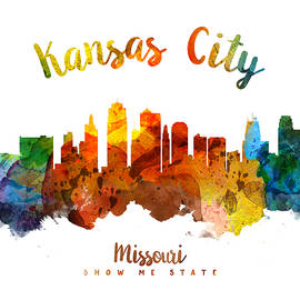 Kansas City Missouri Skyline 26 - Aged Pixel