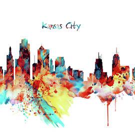 Kansas City Skyline Silhouette - Marian Voicu