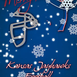 KANSAS JAYHAWKS CHRISTMAS CARD - Joe Hamilton