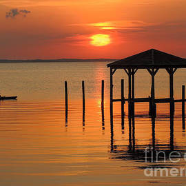 Jeff Breiman - Kayaking At Sunset OBX