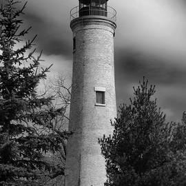 David T Wilkinson - Kenosha Southpoint Lighthouse B W