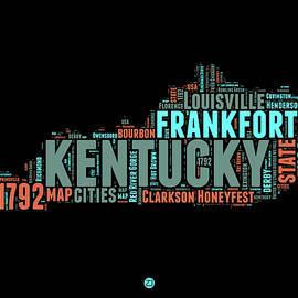Kentucky Word Cloud Map 1 - Naxart Studio