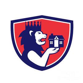 Aloysius Patrimonio - King Lion Holding House Crest Retro