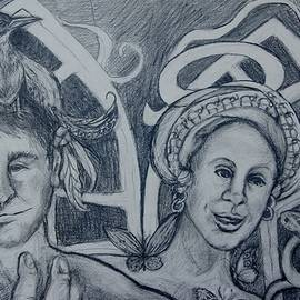 Susan Brown    Slizys art signature name -  bird and Metamorphosis