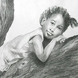 Jayne Somogy - Kirikou, Dreaming -- Portrait of Little African-American Girl