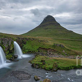 Michael Ver Sprill - Kirkjufell and Kirkjufoss Iceland Waterfall and Mountain