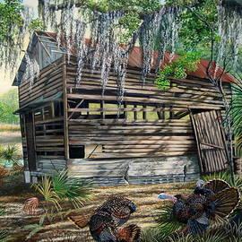 Daniel Butler - Kissimmee River cattle House-Osceola Morning