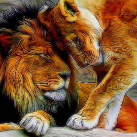 Ernie Echols - Kitty Love Digital Art