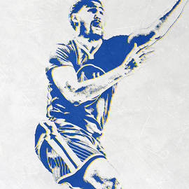 KLAY THOMPSON GOLDEN STATE WARRIORS PIXEL ART - Joe Hamilton
