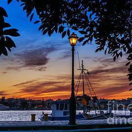 George Papapostolou - Kos island harbor at sunset