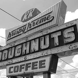 Joseph C Hinson Photography - Krispy Kreme Sign in Spartanburg South Carolina BW
