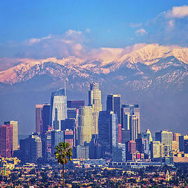 Lynn Bauer - L. A. Cityscape with Snow