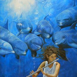 Angel Ortiz - La flautista