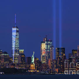 Regina Geoghan -  Lady Liberty and Tribute in Light