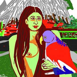 Anand Swaroop Manchiraju - Lady With Parrot