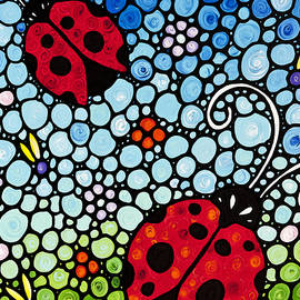 Ladybug Art - Joyous Ladies 2 - Sharon Cummings - Sharon Cummings