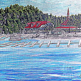 Irving Starr - Lake Arrow Village Piontilist