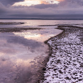 Andy Gimino - Lake Champlain-Winter-Sunset-Stormy clouds