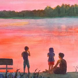Carlin Blahnik - Lake Sunset with Family