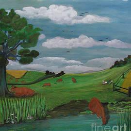 Anna Folkartanna Maciejewska-Dyba  - Landscape with Red Cows